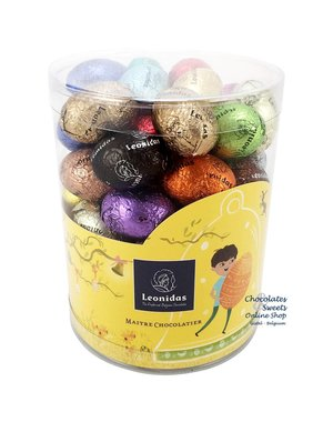 Leonidas Plexi Tube (L) 600g Easter Eggs