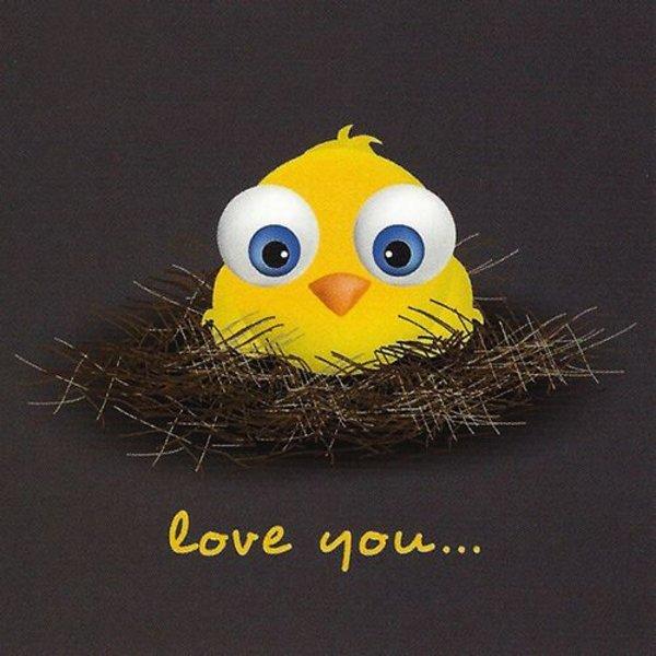 Wenskaart 'Love You'