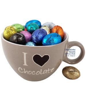 Koffiemok 'I love Chocolate' 33 Paaseitjes