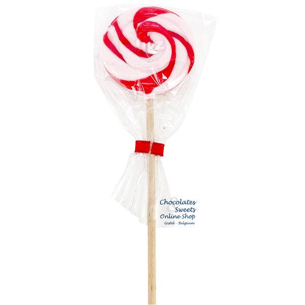 Spiral lollipop white / red