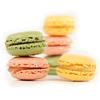9 Macarons: fraise, pistache et citron