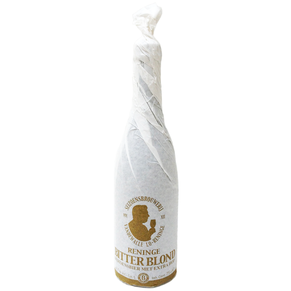 Bouteille de bière Belge 'Reninge Blond Bitter'75cl.
