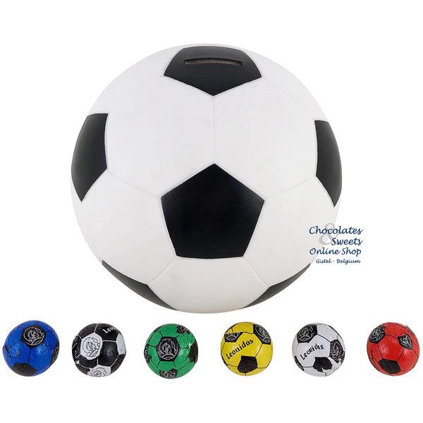 Voetbalspaarpot met 80 Chocolade Voetballetjes