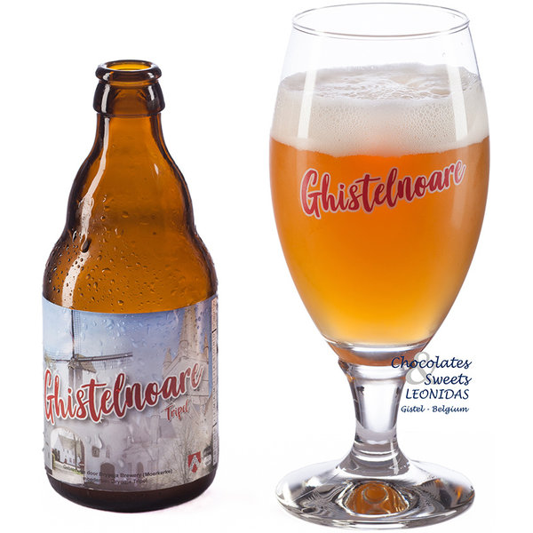Bottle of Belgian beer 'Ghistelnoare Tripel' 33cl.