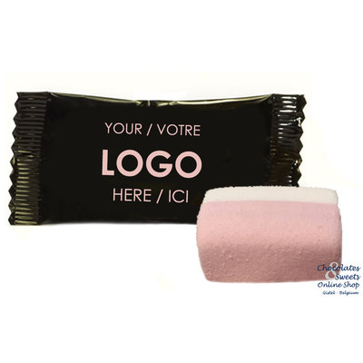 Marshmallow dans un emballage personnalisé, à partir de 2000 pièces.