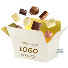 135g de chocolats dans un ballotin personnalisé