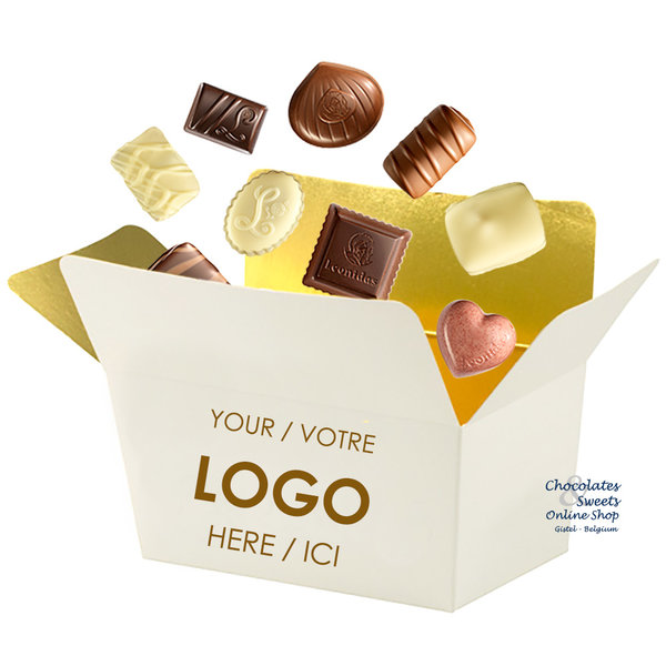 Personalized box with 135g chocolates