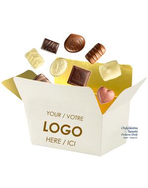 250g de chocolats dans un ballotin personnalisé