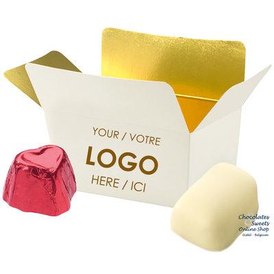 Personalisierte Schachtel mit 2 Pralinen