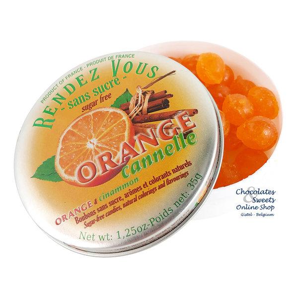 Rendez-Vous Zuckerfreie Süßigkeiten (Orange-Zimt) 35g