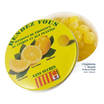 Rendez-Vous Suikervrije snoepjes (citroen) 35g