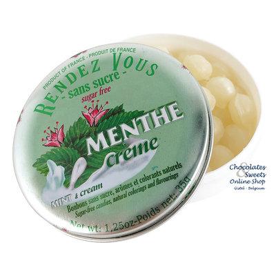 Rendez-Vous Suikervrije snoepjes (munt) 35g