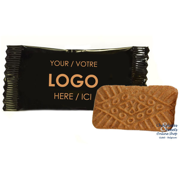 Speculaas biscuit in a personalized packaging, from 2000 pieces.