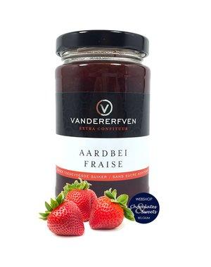 Vandererfven Aardbeien confituur zonder toegevoegde suiker 240g