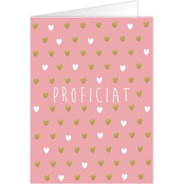 Grußkarte 'Proficiat'