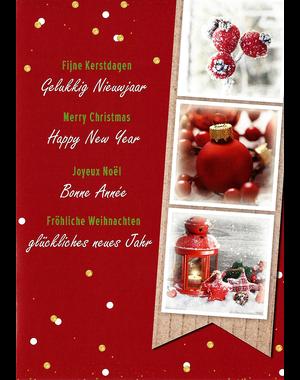 Fröhliche Weihnachten - Glückliches neues Jahr (10x15cm)