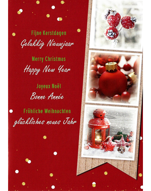Merry Christmas - Happy New Year (10x15cm)