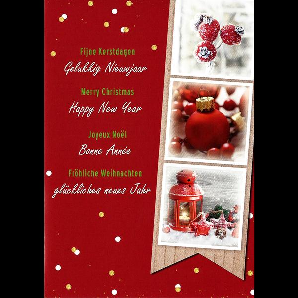 Wenskaart 'Fijne Kerstdagen - Gelukkig Nieuwjaar'