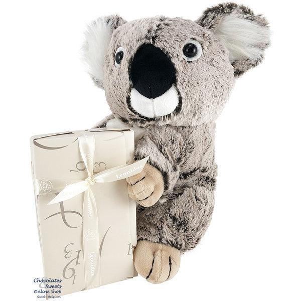 Leonidas 500g chocolats et un Koala en peluche (30cm)