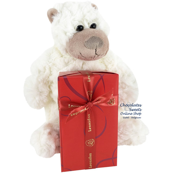 Leonidas 300g chocolates and Plush Monkey (20cm)