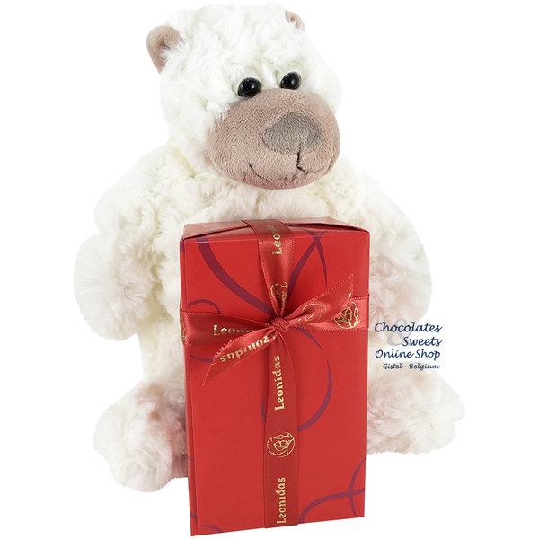 Leonidas 300g chocolats et un singe de peluche (20cm)