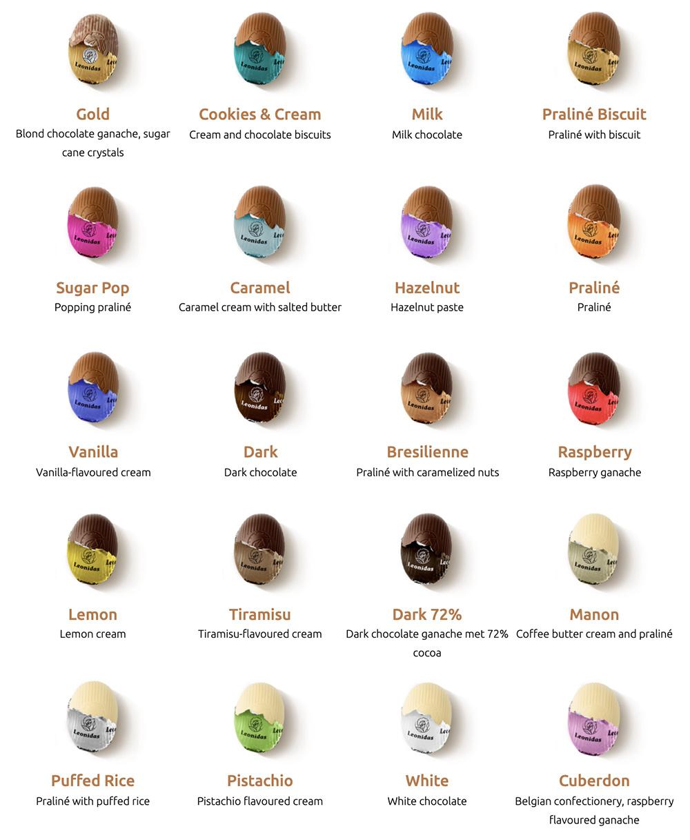 Assortment Leonidas small Easter Eggs 2020