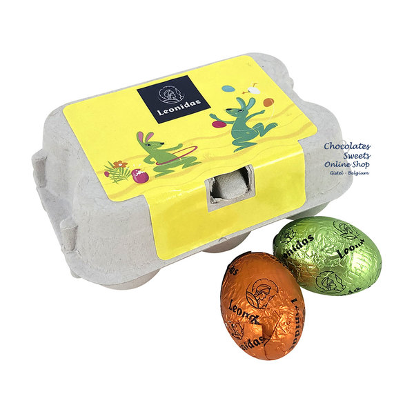 Leonidas Egg box with 6 small Easter eggss
