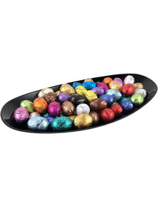 Plate (black) 60 small Easter eggs