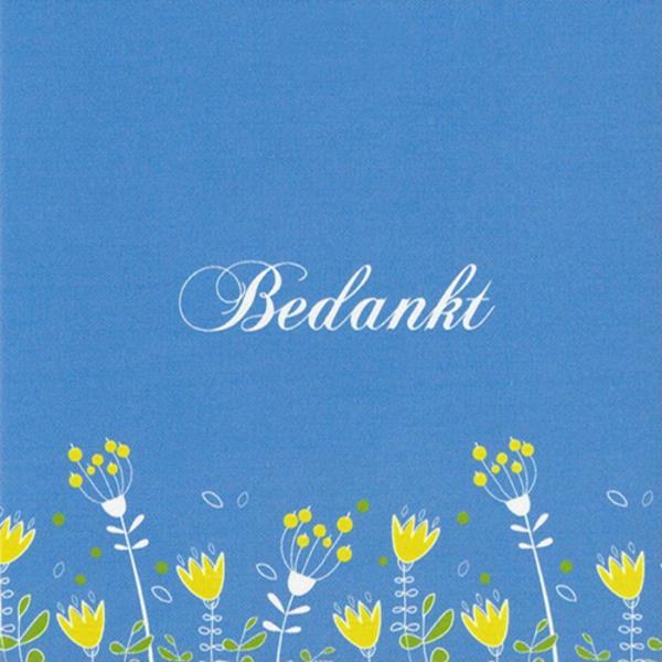 Greeting Card 'Bedankt'