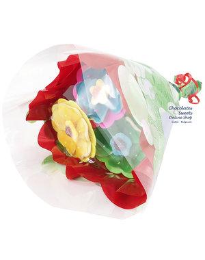 Blumenstrauß Trio Gourmand (Süßigkeiten)