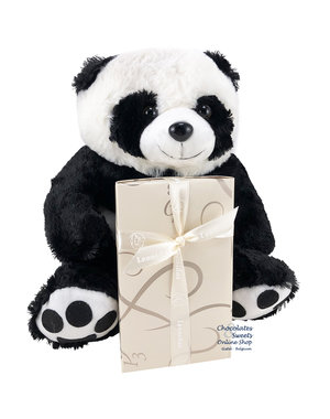 Leonidas 500g chocolates and Panda bear (30cm)