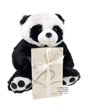 Leonidas 500g chocolats et Panda en peluche (30cm)