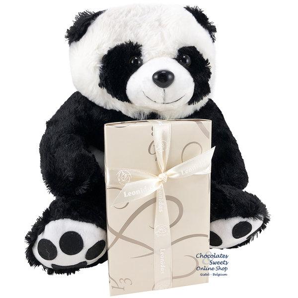 Leonidas 500g chocolates and Panda bear (30cm)