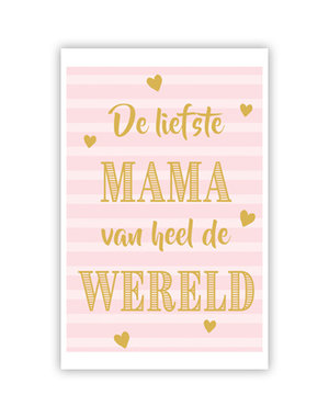 De liefste Mama (11,5 x 16,5 cm)