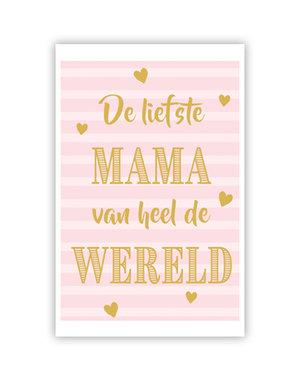 De liefste Mama (11,5x16,5cm)