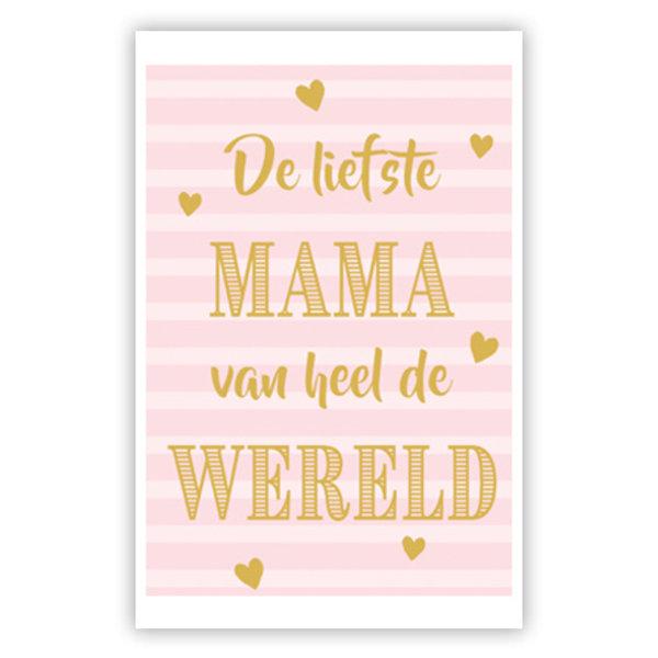 Grußkarte 'De liefste Mama'