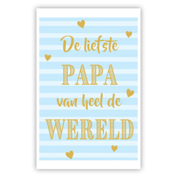 Grußkarte 'De liefste Papa'