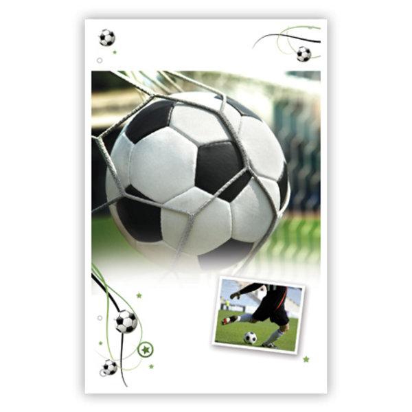 Grußkarte 'Fußball'
