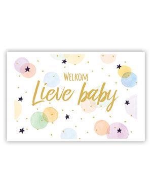 Welkom lieve Baby (11,5x16,5cm)