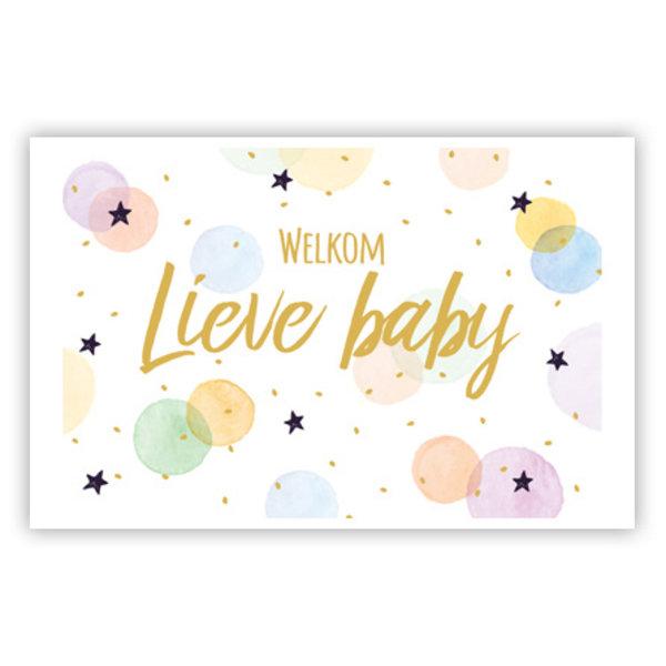 Carte de voeux 'Welkom lieve Baby'