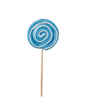 Spiraal lolly wit / blauw