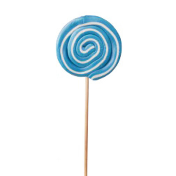 Spiral lollipop white / blue