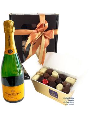 750g Pralines en fles Champagne Veuve Clicquot
