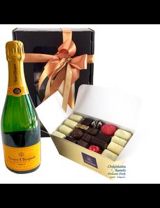 1kg Chocolats et Champagne Veuve Clicquot