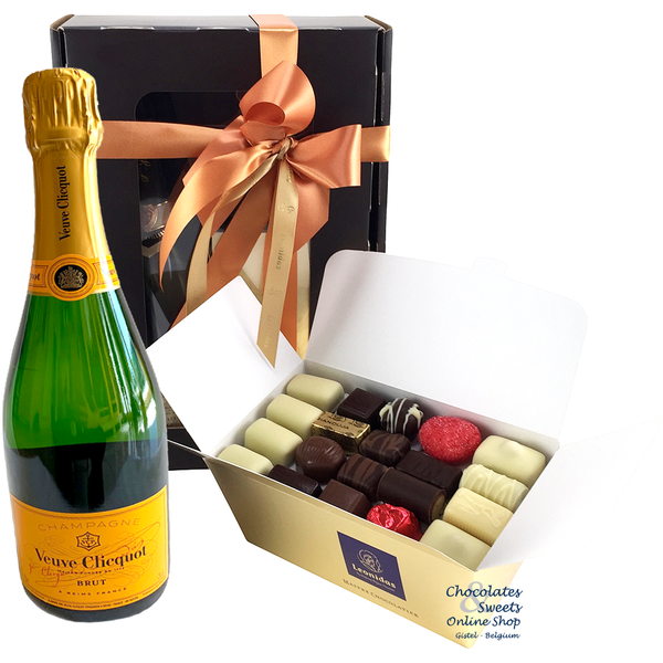 1kg Leonidas Chocolates and Champagne Veuve Clicquot 75cl.