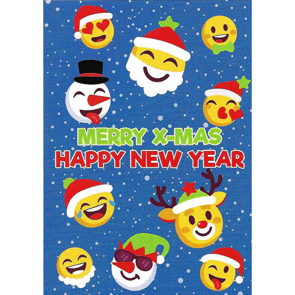 Carte de voeux 'Merry X-Mas and Happy New Year'