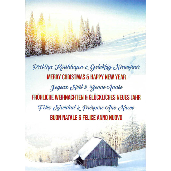 Carte de voeux 'Merry Christmas & Happy New Year'