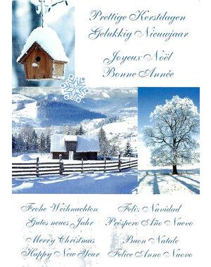 Prettige Kerstdagen - Gelukkig Nieuwjaar (10x15cm)