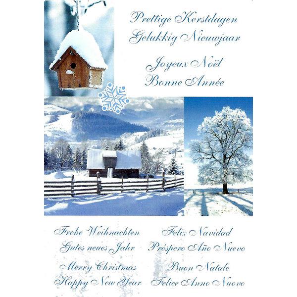 Wenskaart 'Prettige Kerstdagen - Gelukkig Nieuwjaar'