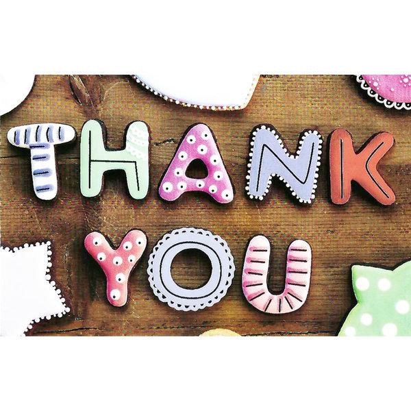Grußkarte 'Thank You'